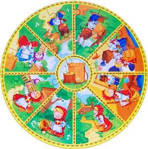 Пазл Маша и Медведь. Сказзл Маша и Медведь. Сказка целиком в виде круглого пазла.