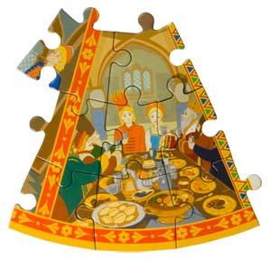 Сказзл По-Щучьему Велению. 9-й сектор. Устроили они пир на весь мир. Емеля женился на Марье-царевне и стал управлять царством.